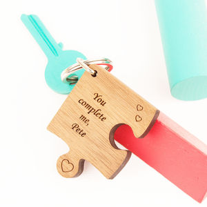 Personalised Missing Piece Jigsaw Keyring - gifts for him