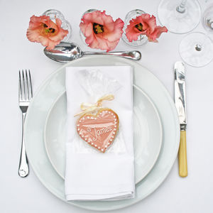 Personalised Wedding Place Setting Biscuit - table decoration
