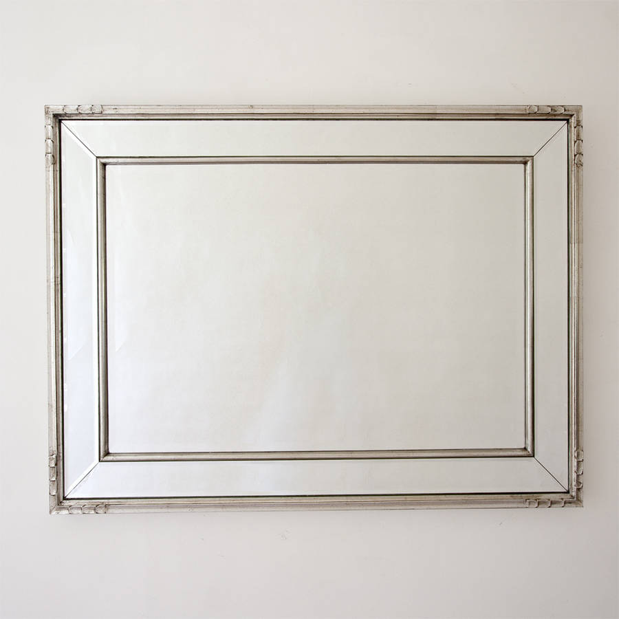 double framed silver mirror by decorative mirrors online ... on Wall Mirrors id=42881