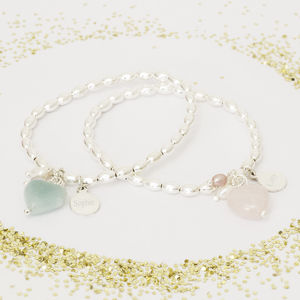 Avea Children's Personalised Heart Bracelet - flower girl jewellery