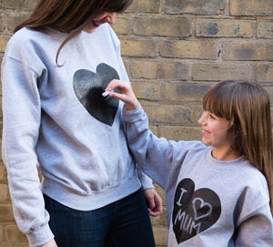 Heart Print Chalkboard Sweatshirt - gifts for children