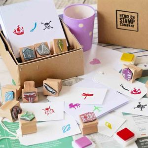 Children's Rubber Stamp Kit - gifts: under £25
