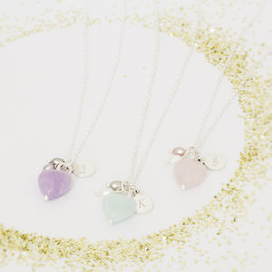Avea Children's Personalised Heart Necklace - wedding jewellery