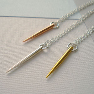 Mixed Metal Spike Necklace