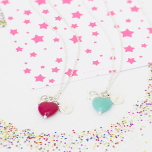 Ava Children's Personalised Heart Necklace - jewellery gifts for bridesmaids