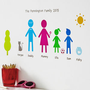 Personalised Family Wall Stickers Portrait - wall stickers