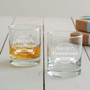 Personalised 'Drinks Connoisseur' Tumbler Glass - home