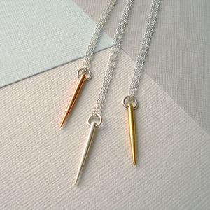 Mixed Metal Spike Necklace - necklaces & pendants