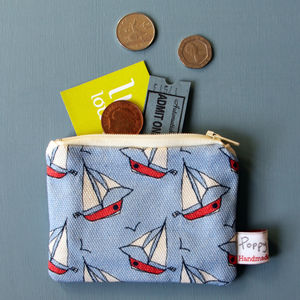 Small Coin Purse Breezy Boats - bags, purses & wallets