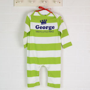 Personalised Babygro Daddy's Little Prince