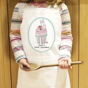 Personalsied Little Cupcake Kids Apron - aprons