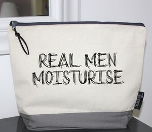 'Real Men Moisturise' Wash Bag