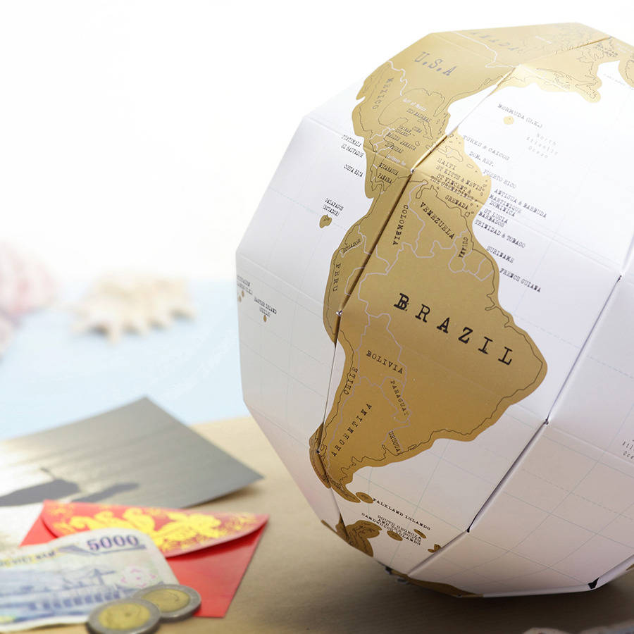 Scratch map globe by luckies notonthehighstreet scratch map globe gumiabroncs Images