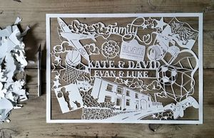 Personalised Hand Cut Papercut - home accessories