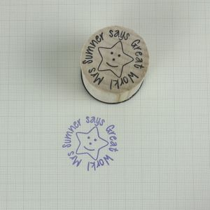 Personalised Round Teacher Stamp - new in home
