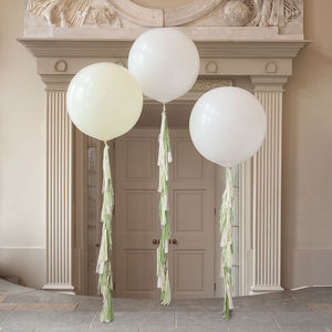 Mojito Tassel Tail Giant Balloon - rustic wedding