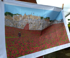 Tower Of London Poppies Tea Towel