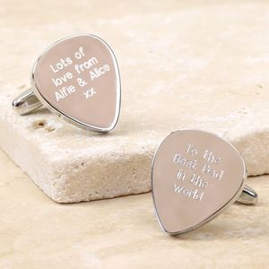 Personalised Plectrum Cufflinks - cufflinks