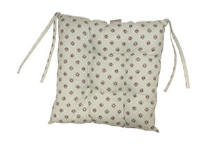 Garden Green Grey Chair Pad - patterned cushions