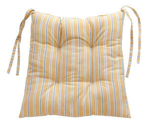 Ledbury Ochre Grey And Malvern Lapis Chair Pad - cushions