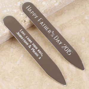 Sterling Silver Collar Stiffeners - men's accessories