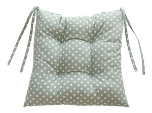 Madelaine Sage Chair Pad - patterned cushions