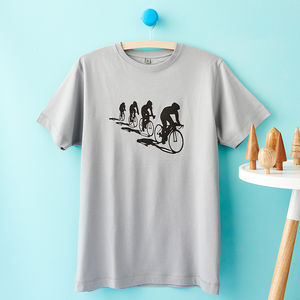 Cyclists And Their Shadows T Shirt - winter sale