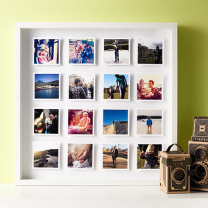 Personalised Photos 3D Box Framed Print - 50th birthday gifts