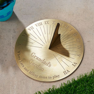 Personalised Copernicus Brass Sundial - gifts for couples