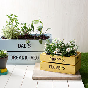Daddy And Me Personalised Crates - gardening