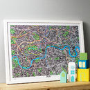 Hand Drawn Map Of London Print