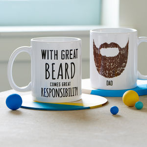 Personalised 'Great Beard' Man Mug - gifts for fathers