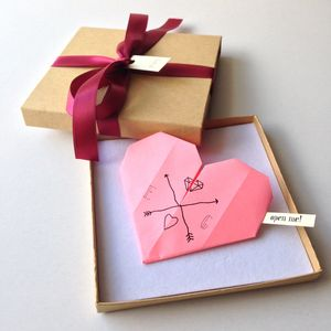 Personalised Origami Heart Proposal - love & romance cards