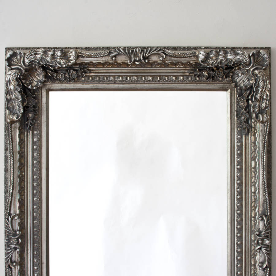 Grand silver or gold full length dressing mirror by for Decorative mirrors