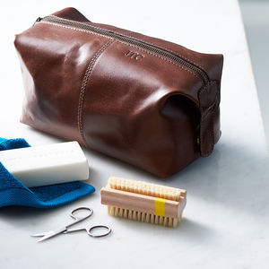 Leather Wash Bag - birthday gifts