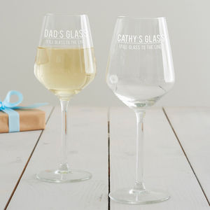 Personalised 'Fill To The Line' Wine Glass - wine glasses & goblets