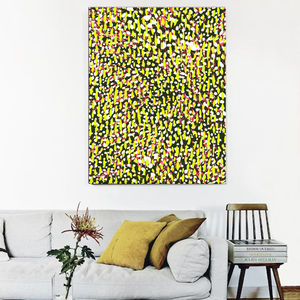 Cheetah, Yellow Abstract Canvas Art - paintings & canvases