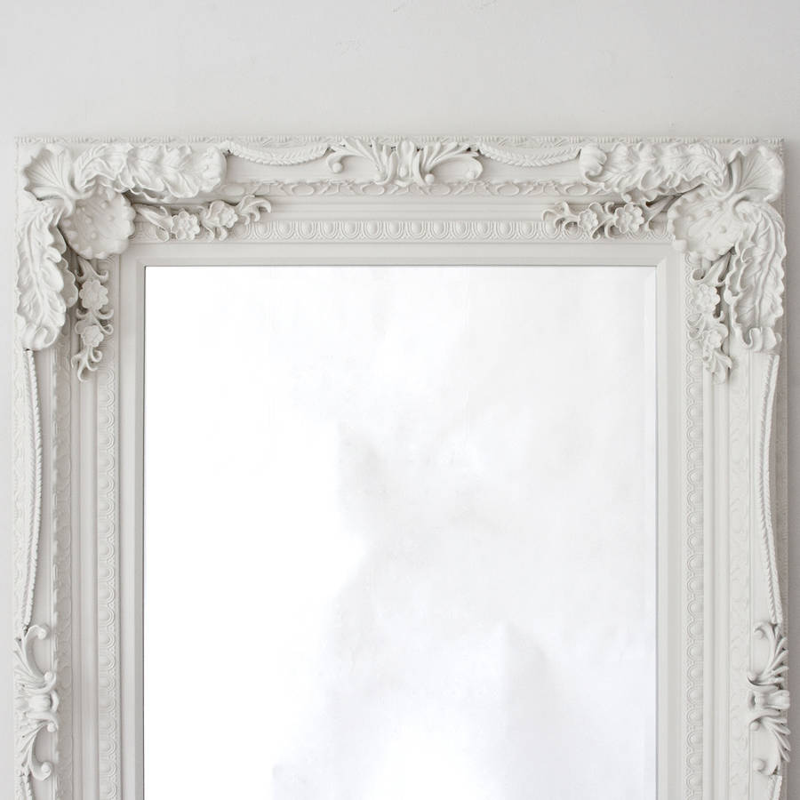 Grand cream full length dressing mirror by decorative for Ornamental mirrors