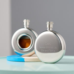 Round Window Hip Flask - gifts for him