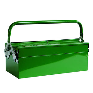 Diy Vintage Style Metal Folding Tool Box In Green - storage & organisers