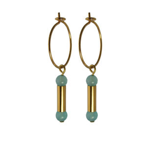 Small Gold Hoop And Tubes Earrings