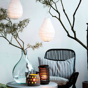 Drop Paper And Bamboo Garden Lantern - summer garden