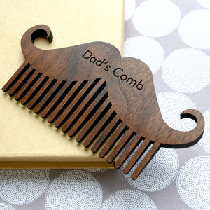Personalised Wooden Beard And Moustache Comb - gifts for him