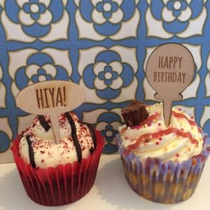 'Happy Birthday' Wooden Cake Topper - new in home
