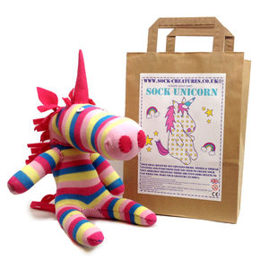Sock Unicorn Craft Kit - unicorns
