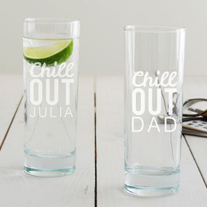Personalised 'Chill Out' Hi Ball Glass - kitchen