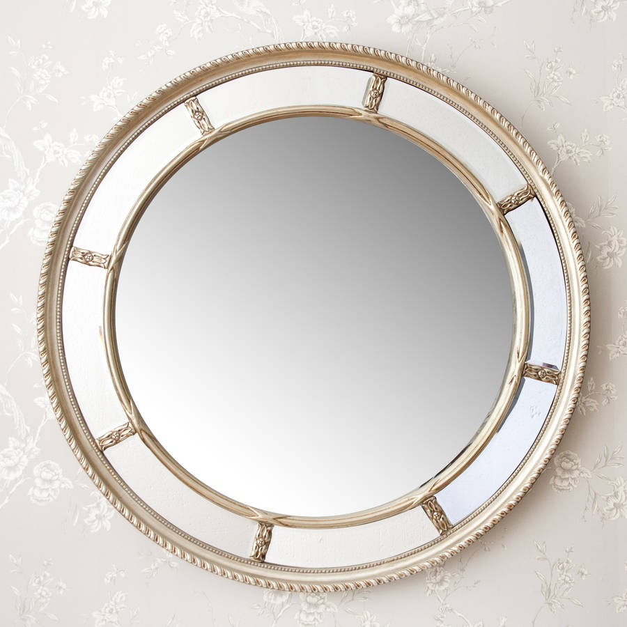Lucia round decorative mirror by decorative mirrors online for Circle mirror