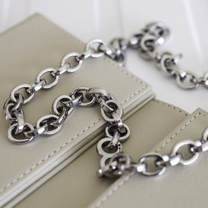 Mens Steel Oval Link Necklace - necklaces