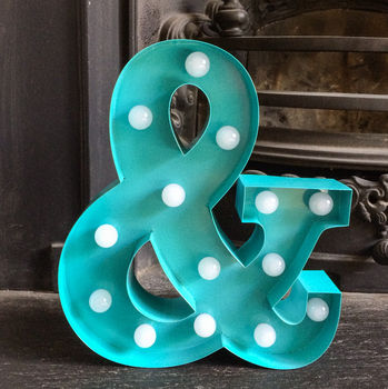 Metal Ampersand LED Circus Light