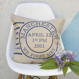 Personalised Postage Stamp Cushion - cushions